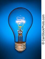 藍色的燈, 燈泡
