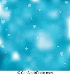 藍色的燈, bokeh, 背景