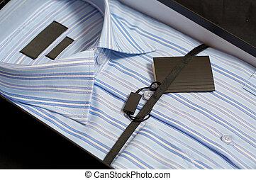 藍色的箱子, 襯衫, 禮物, man\'s, 顏色, 新