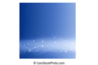 藍色的背景, 喜慶