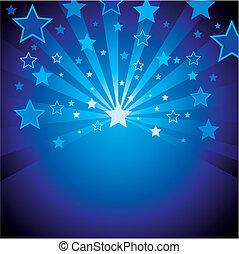 藍色的背景, 星