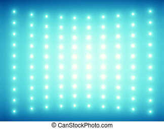藍色的背景, 由于, 微小, glimmers