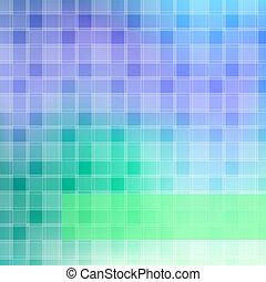 藍色的背景, 綠色的摘要