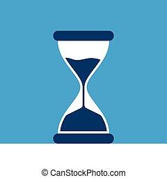 藍色的背景, hourglass