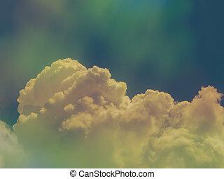 藍色的過濾器, 天空, 影響, 鮮艷