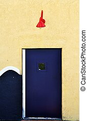 藍色的門, 由于, 紅色, 燈