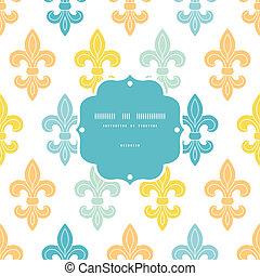藍色, 上帝, 框架, seamless, 背景圖形, 百合花