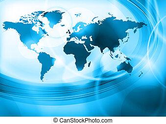藍色, 世界