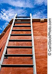 藍色, 主要, 梯子, 天空, 向上