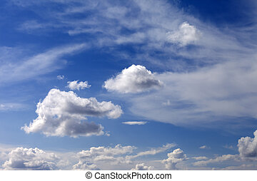 藍色, 云霧, 天空