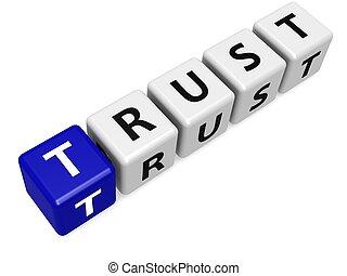 藍色, 信任