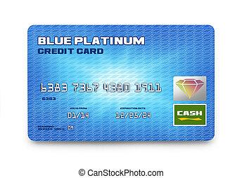藍色, 信用卡