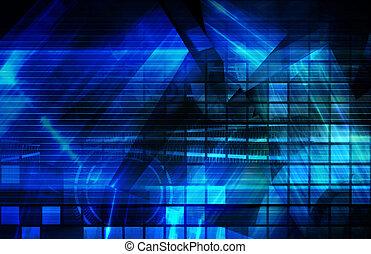 藍色, 公司, 背景