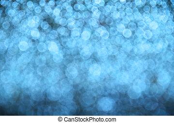 藍色, 冬天, 光, 摘要, 背景, 迷離, 閃光, 聖誕節
