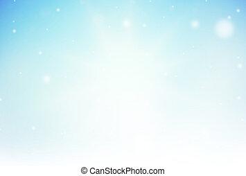 藍色, 冬天, 光, 被模糊不清, 背景, 聖誕節