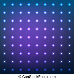 藍色, 加點, 閃光, 摘要, light., 透鏡, 矢量, 背景