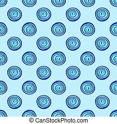 藍色, 圈子, 圖案, 摘要, seamless, 背景