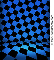 藍色, 國際象棋, 房間, 階段