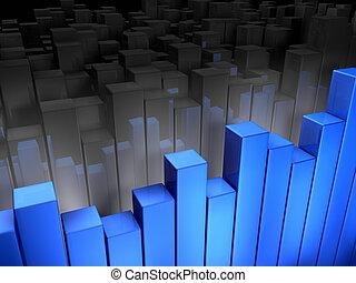 藍色, 圖表
