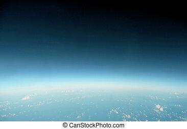 藍色, 地平線