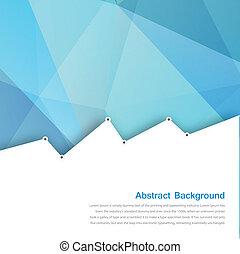 藍色, 多角形, 摘要, 背景。, 矢量, 卡片
