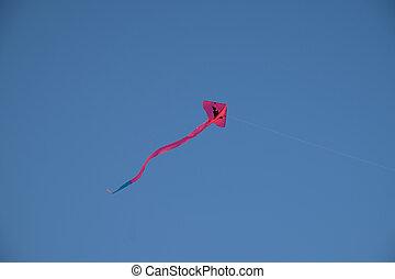 藍色, 天空, 風箏, 鮮艷