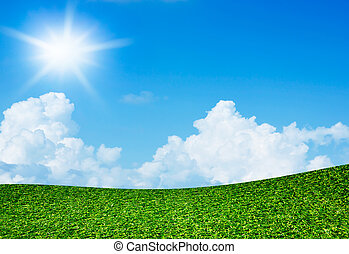 藍色, 太陽, 天空領域, 綠色, 在下面