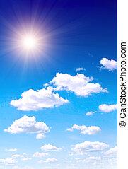藍色, 太陽, 天空