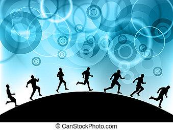 藍色, 奔跑者