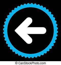藍色, 套間郵票, 顏色, 箭, 白色, 左, 輪, 圖象