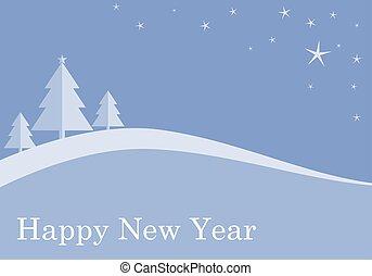 藍色, 套間, 樹, 聖誕節, 背景
