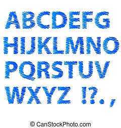 藍色, 字母表, 略述