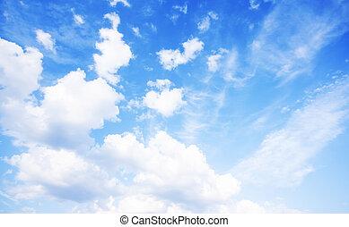 藍色, 寬, 天空, 背景