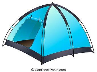 藍色, 帳篷