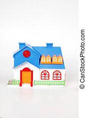 藍色, 房子, 玩具