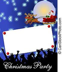 藍色, 招貼, 歡樂, 背景, 圣誕節卡片