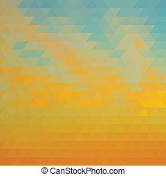 藍色, 摘要, 三角形, 沙子, 背景