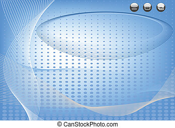 藍色, 摘要, -, 插圖, 矢量, 作品