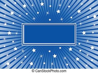 藍色, 摘要, 白色, 星, 背景