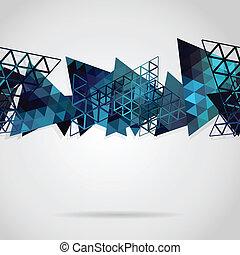 藍色, 摘要, 背景, 三角形