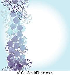 藍色, 摘要, 背景, 紫丁香, 六邊形