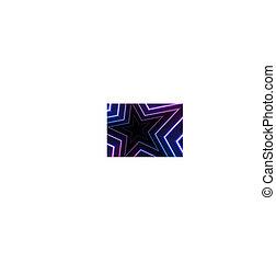藍色, 星, 摘要, 氖, 發光, 紫外, 背景