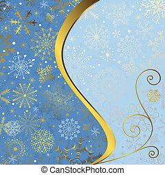 藍色, 框架, 聖誕節