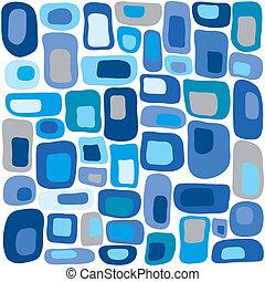 藍色, 正方形, retro