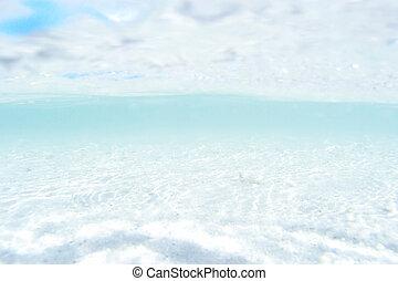 藍色, 深海, 或者, 海洋, 水下, 弄污背景
