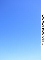 藍色, 清楚, 天空, 無云