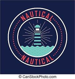 藍色, 燈塔, 自然, 海報, 海, 船舶