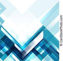 藍色, 現代, 幾何學, 摘要, 背景