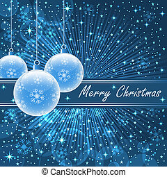 藍色, 球, 聖誕節
