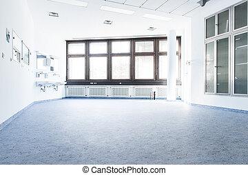 藍色, 白色 室, 在, a, 醫院